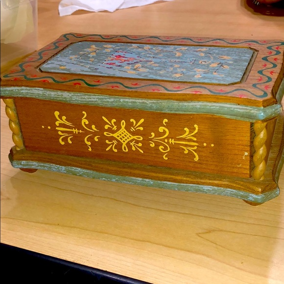 1960s Hand painted Reuge Swiss Music Box